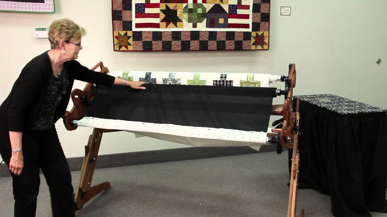 Attaching Fabric to a Grace Hand Quilting Frame - YouTube