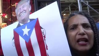 Rally for Puerto Rico with William Hartung at Trump Tower