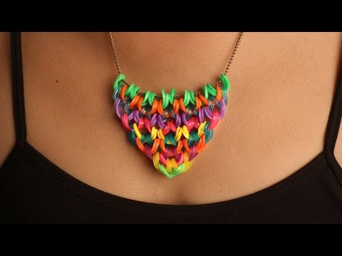 Rainbow Loom Nederlands - Ketting hangertje || Loom bands, rainbow loom, tutorial, how to