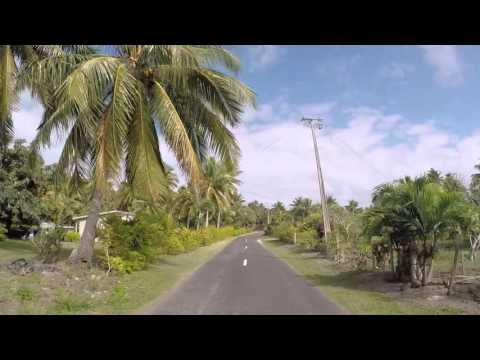 Iles Cook Route vers le lagon, Gopro  / Cook islands Road to the lagoon, Gopro