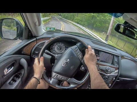 Infiniti QX56 | 4K POV Test Drive #234 Joe Black