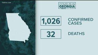 Confirmed cases in Georgia surpass 1,000