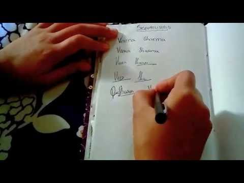 Learn how to make signature