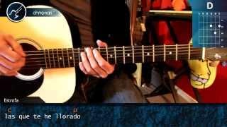 """Cómo tocar """"Rayando el Sol"""" de Maná en Guitarra Acústica (HD) Tutorial - Christianvib"""