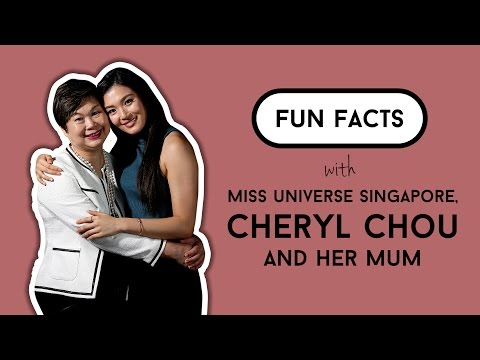 Fun Facts with Miss Universe Singapore, Cheryl Chou and her mum