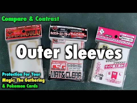 A Review of Outer Sleeves for Magic: The Gathering and Pokemon (KMC Character Guard, Broccoli)