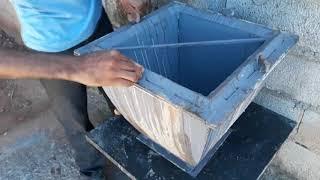 Forma vaso de cimento 40x40x40cm