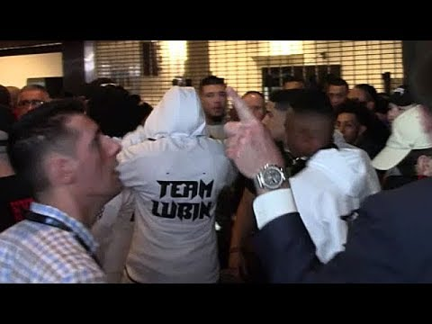 TEAM CHARLO AND TEAM LUBIN SEPARATED AFTER VERBAL ALTERCATION; TEMPERS FLARE 24 HOURS BEFORE FIGHT