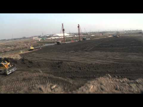 Shanghai Disneyland flyover tour as construction begins in China