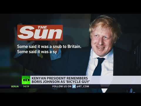 'Bicycle guy': Kenyan president forgets Boris Johnson's last name, causing Theresa May to smile