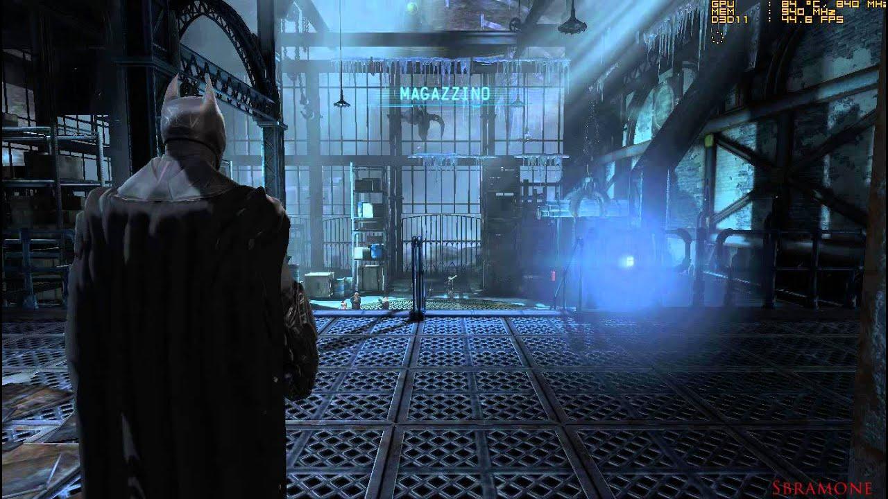 BATMAN -Arkham Origins- Gameplay PC FPS Counter on AMD HD6770M