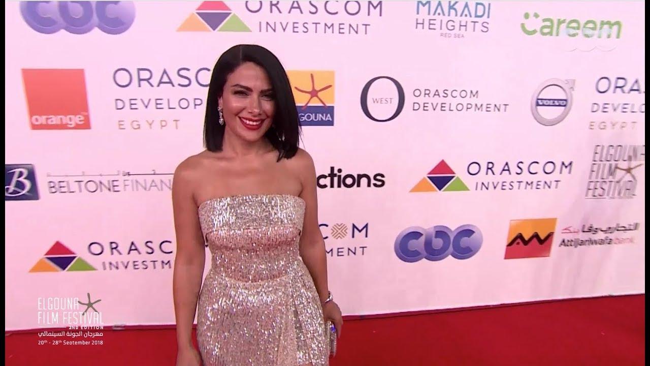 فستان صبا مبارك في ختام فعاليات مهرجان الجونة السينمائي  | #GFF18