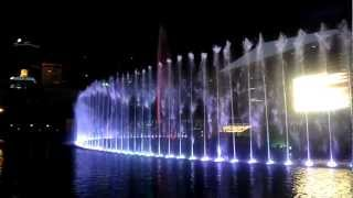 Aarna enjoying Water Light Music Dancing fountains at KLCC, Malaysia