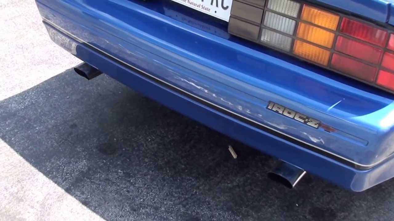 87 Iroc Camaro Straight Pipe To A Flowmaster Exhaust Video