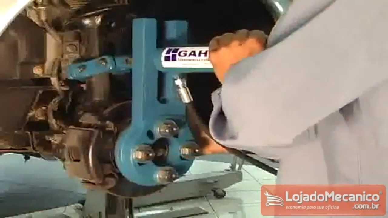 Ford Camber >> Correção de Cambagem e Caster da Suspensão Dianteira GAHO GH900 - Loja do Mecânico - YouTube