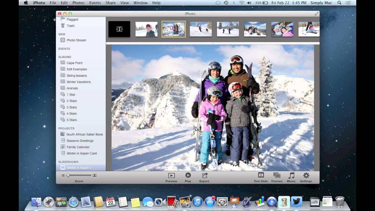 iPhoto - Slide Show