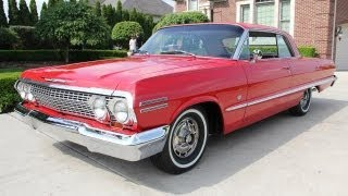 1963 Chevy Impala SS Classic Muscle Car for Sale in MI Vanguard Motor Sales