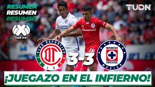 Resumen y Goles | Toluca 3 - 3 Cruz Azul | Liga Mx - J-4 CL-2020 | TUDN