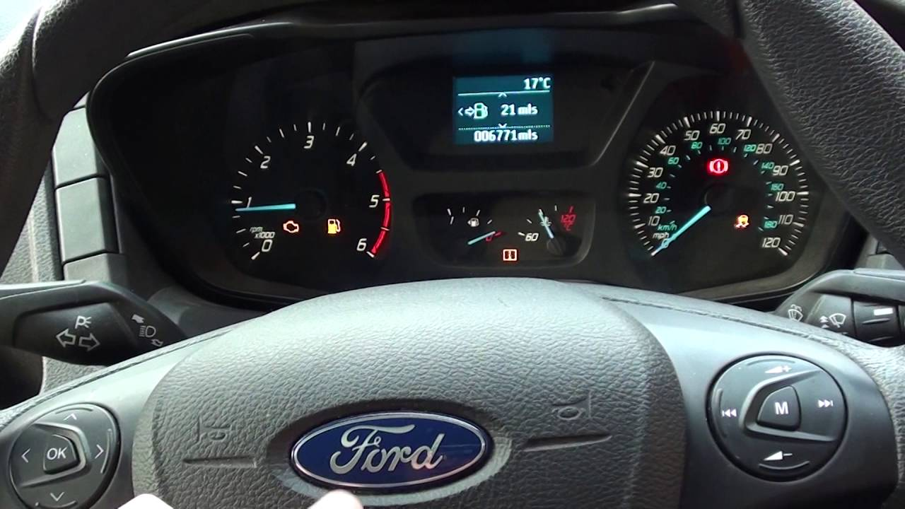 Ford Transit Mk8 Engine Light Traction & Hill Assist