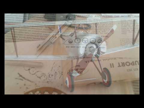Nieuport 11 (skala 1:12 gumówka z zestawu Guillow`s)