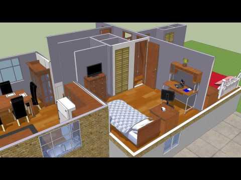 How to make modern house in google sketchup doovi for Modern house design sketchup