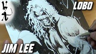 Jim Lee drawing Lobo