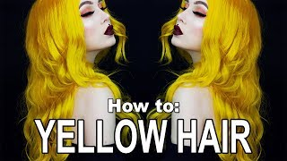 How to: Yellow Hair | The Best Hair Dyes CF & VEGAN | Evelina Forsell