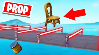 DODGE The LASERS Using PROPS! (Fortnite Prop Deathrun)