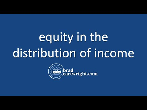 Equity in the Distribution of Income Series:  Introduction and Overview
