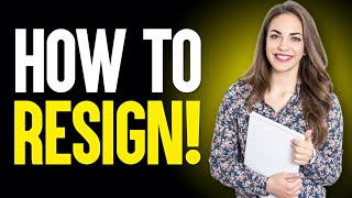 HOW TO WRITE A RESIGNATION LETTER Or EMAIL! (Job Resignation Letter Sample TEMPLATE!)