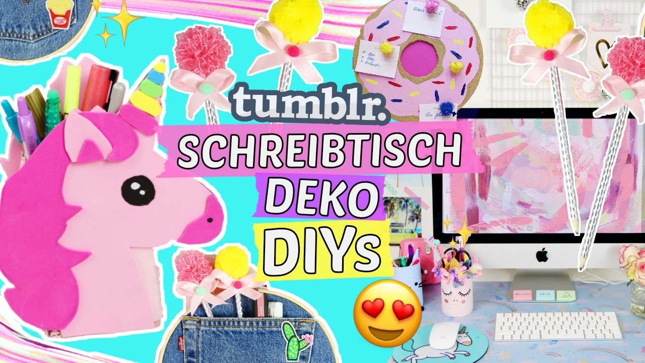 3 coole SCHREIBTISCH DEKO DIYs 💖TUMBLR & PINTEREST Style 😍ZIMMER ...