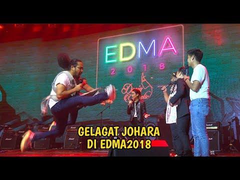 Gelagat JoHaRa dengan Alif Satar kat EDMA 2018