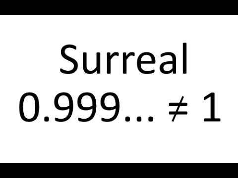 0.999... Repeating Is Equal To 1, But Something Like It Is Not (Introduction To The Surreal Numbers)
