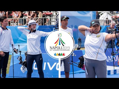Korea v Kazakhstan – compound mixed team bronze   Napoli 2019 Universiade