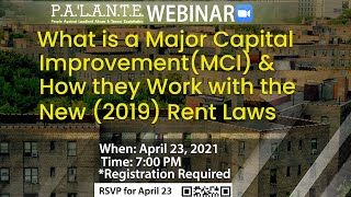 What is a Major Capital Improvement (MCI) & How they Work with the New (2019) Rent Law