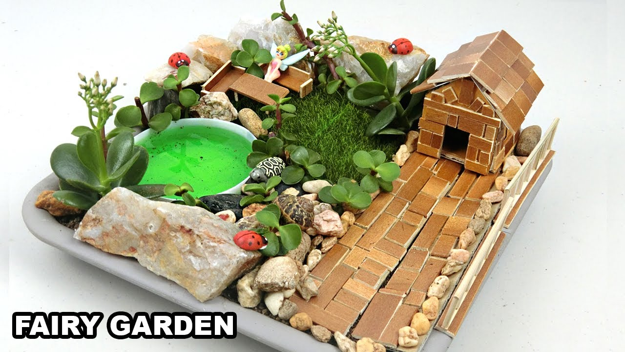 Diy Mini Fairy Garden 5 Easy Crafts Ideas Youtube