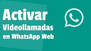 Cómo ACTIVAR las VIDEOLLAMADAS en WhatsApp Web - Aprovecha esta NUEVA Actualización