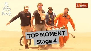Top Moment - Sam Sunderland is out - Stage 4 - Dakar 2018