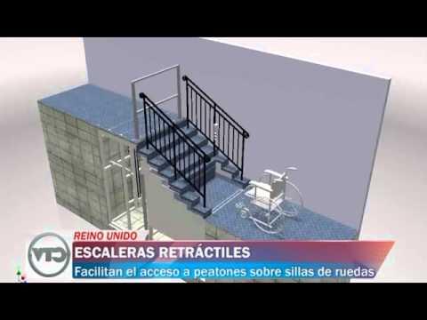 escaleras retr ctiles para personas sobre sillas de ruedas ForEscaleras Retractiles