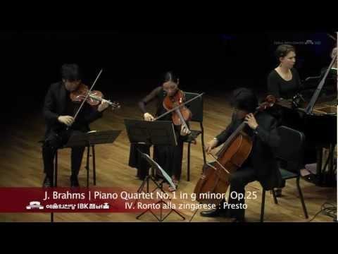 J. Brahms Piano Quartet No.1 in g minor, Op.25  4. Rondo alla zingarese : Presto