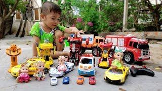 Trò Chơi Đi Săn Siêu Xe Ô Tô Transformer Car ❤ ChiChi Kids TV ❤ Đồ Chơi Trẻ Em