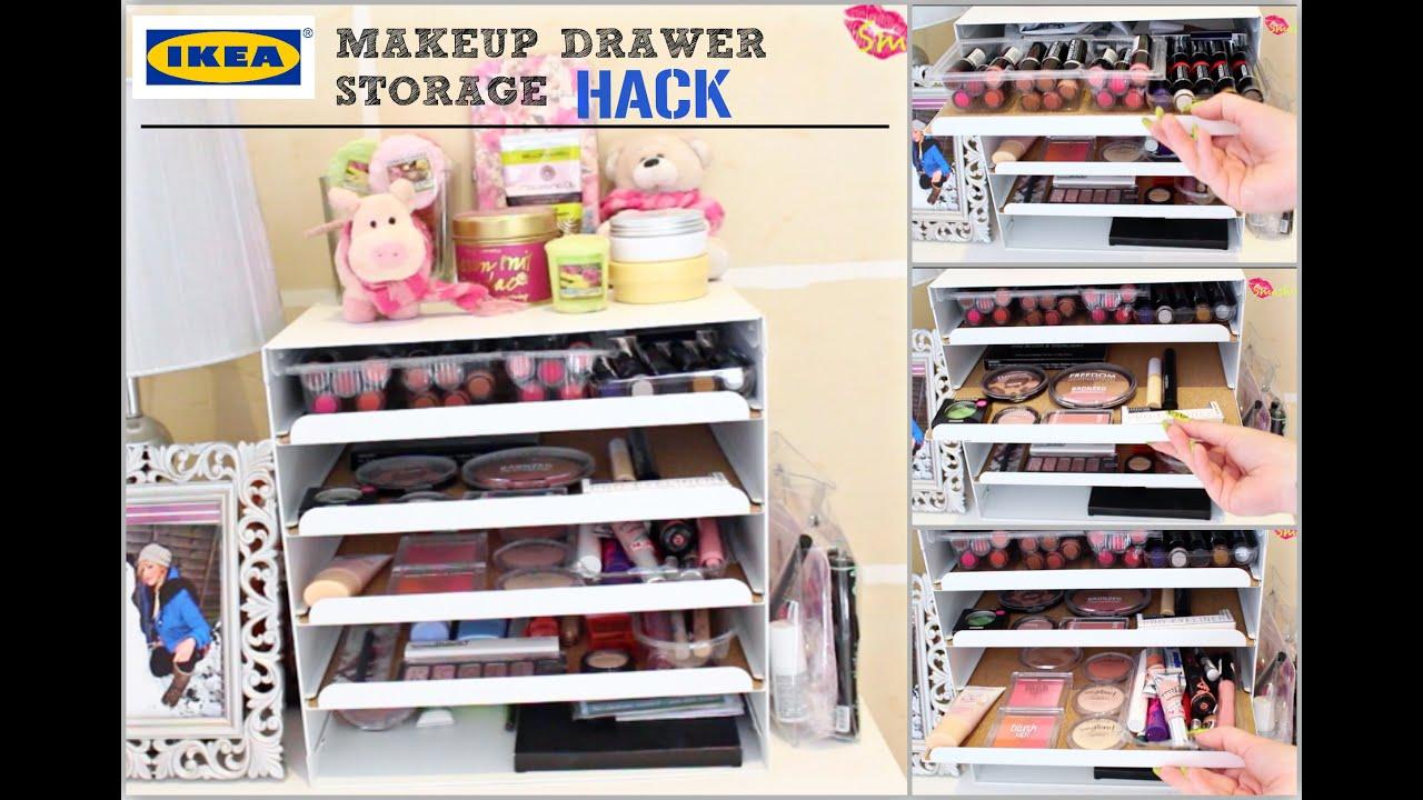 Cheap Ikea Makeup Drawer Storage Hack Smashing Darling