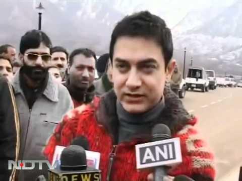 Aamir Khan shoots in the Kashmir valley