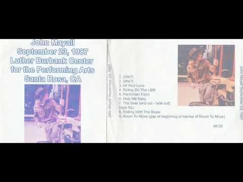 JOHN MAYALL - LIVE IN SANTA ROSA, CA, 23.09.1987