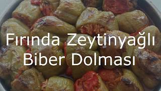 Fırında Zeytinyağlı Biber Dolması Tarifi-Pratik Tarifler