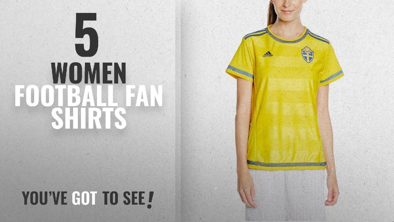 e7f70c8ed0f Top 10 Women Football Fan Shirts [2018]: Adidas Sweden Home Replica Women's  Jersey, Grey