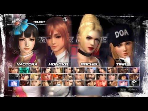 Request video 107 - DoA5LR - Naotora Ii (C3) and Honoka (C3) vs Rachel (C4) and Tina (C9)
