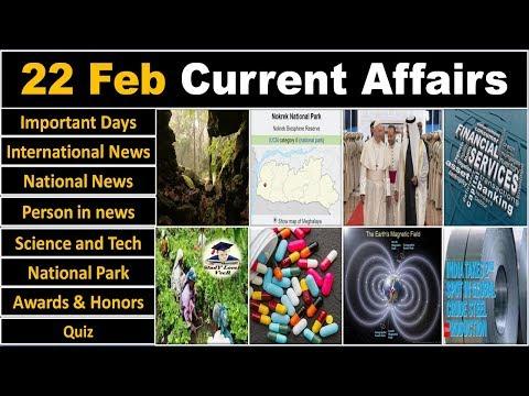 22 February 2019 PIB News, The Hindu, Indian Express - Current Affairs in Hindi, Nano Magazine, VeeR