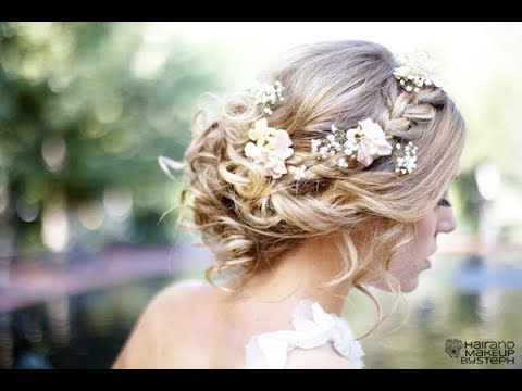 20 Wedding Hairstyles With Flowers For Long Hair Youtube