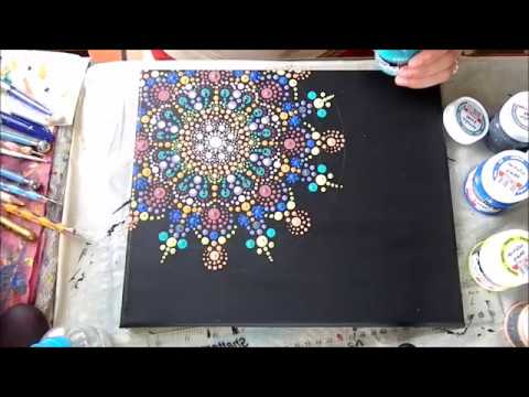 How To Paint Dot Mandalas On Canvas Sz 237 Npomp 225 S Mandala